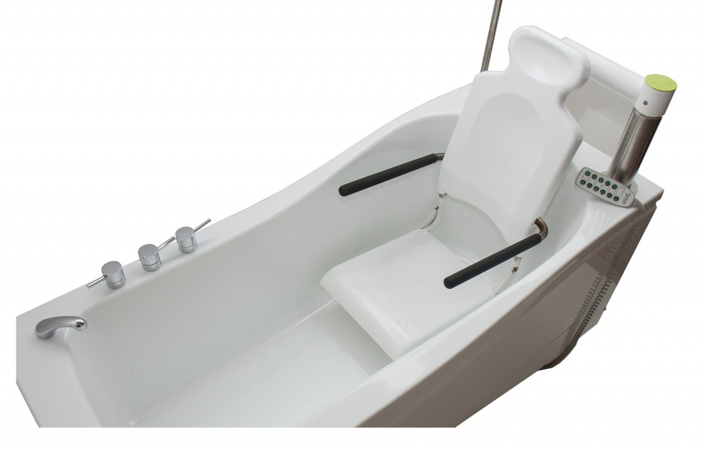 Height Adjustable Bath With Integrated Seat Opemed