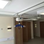 ceiling hoist on multi-directional track