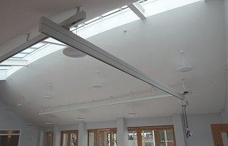 suspended ceiling track hoist