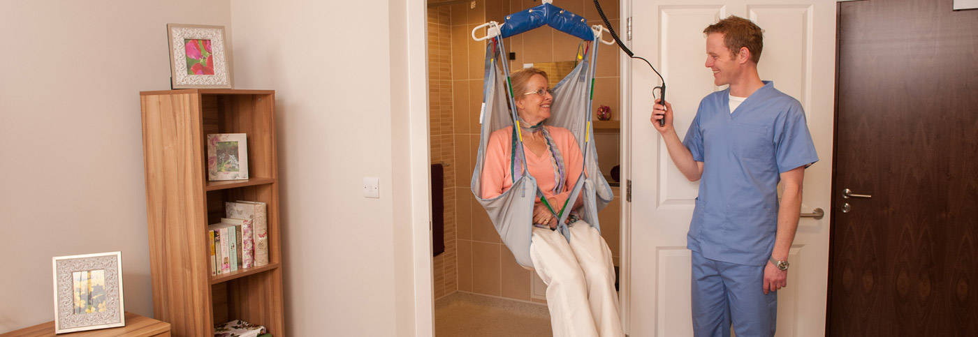 Patient lifting hoists