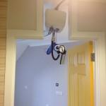 ceiling hoist track and door header