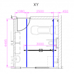 xy ceiling track drawing by opemed