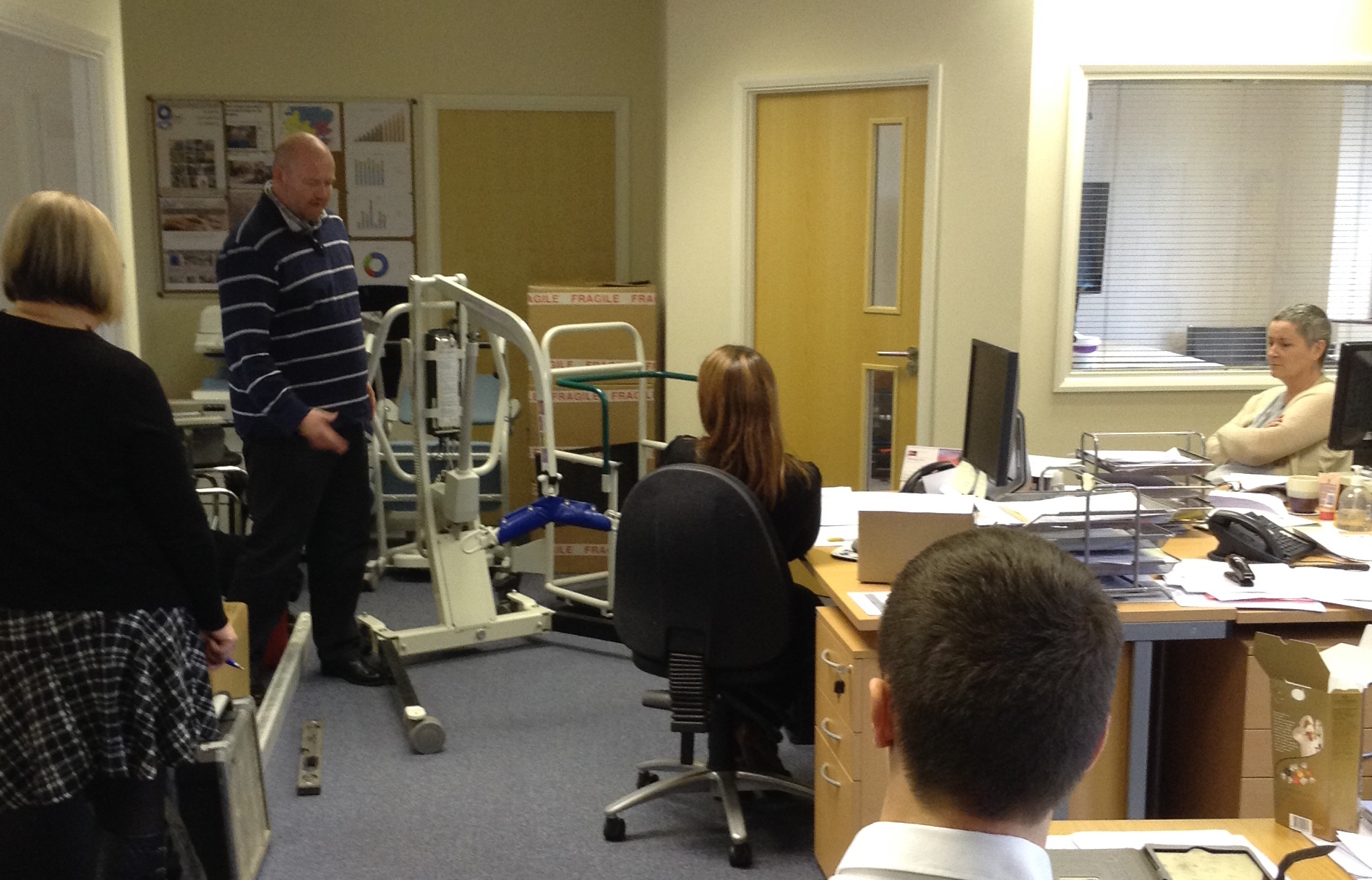 Training Session knowledge on hoisting equipment at opemed
