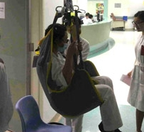 transfer and care equipment in hospital