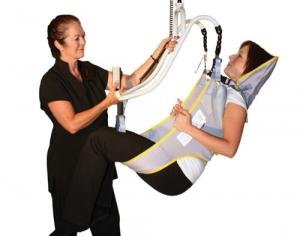 toileting sling in demonstration