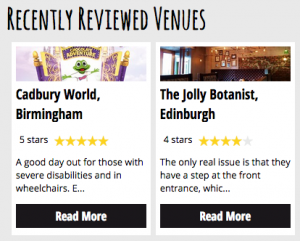 recently reviewed venues by euans guide