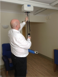 ceiling hoist in nursing home