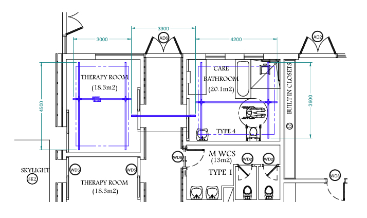 Designing disabled access to swimming pools opemed for Swimming pool plan layout