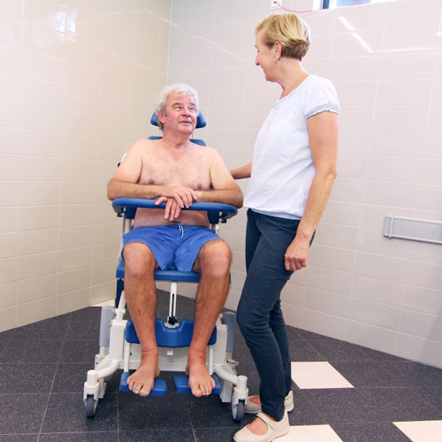 Zido Electric Tilting Shower Chair