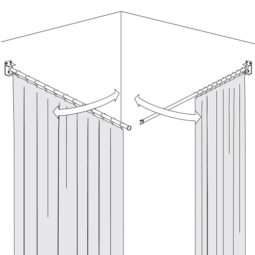 Swing Shower Curtain Rail