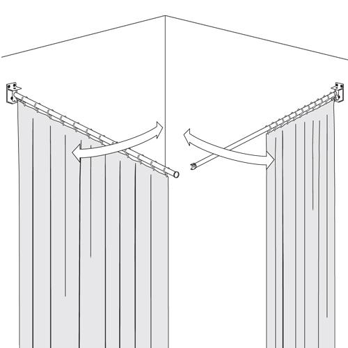 Swing Shower Curtain Rail Opemed