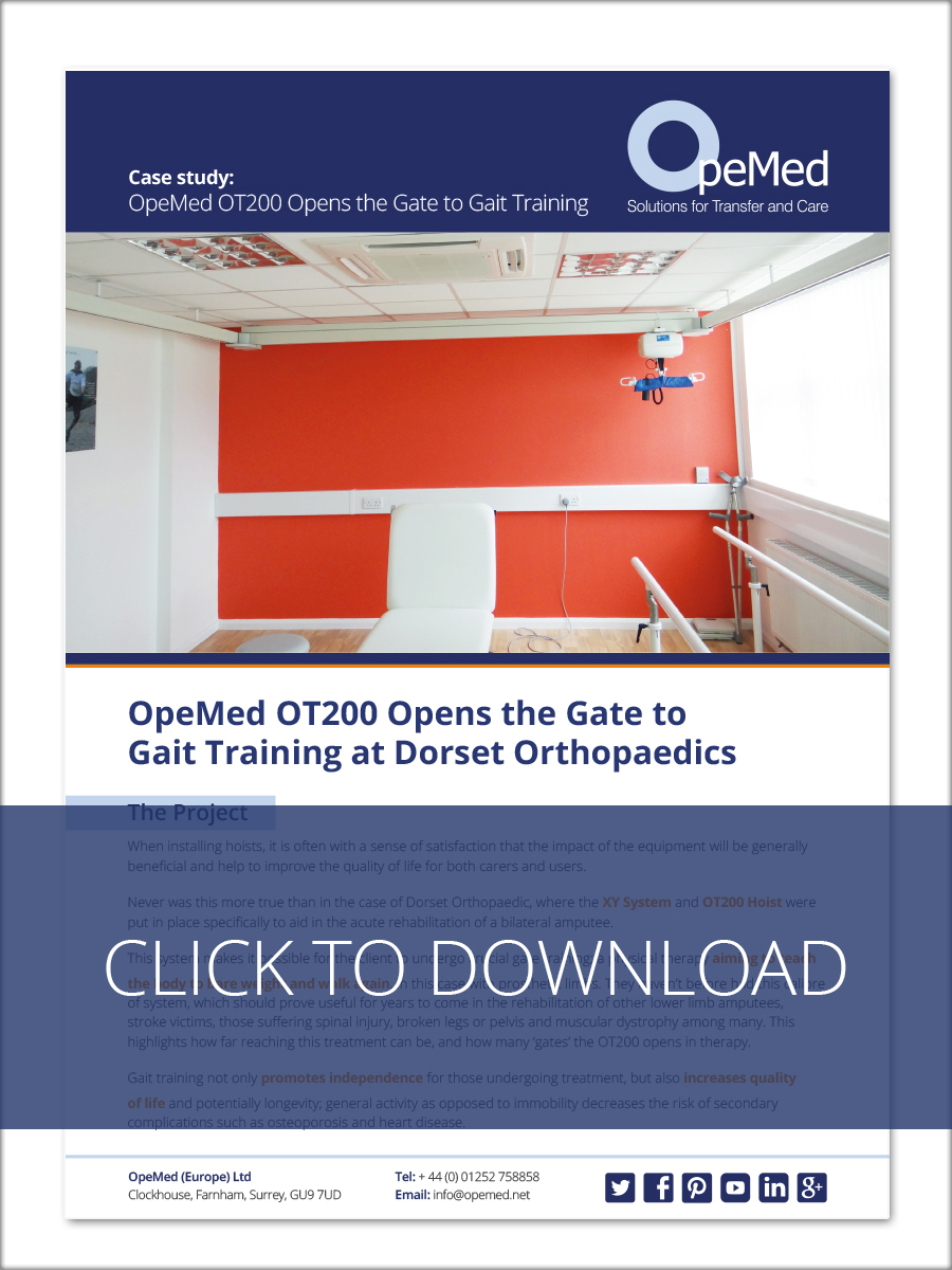 OpeMed OT200 Opens the Gate to Gait Training at Dorset Orthopaedics - Download