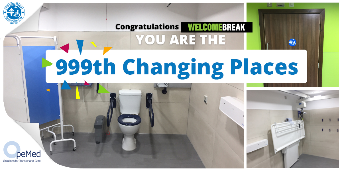 Welcome Break achieve 999th Changing Places for Changing Places Awareness Day