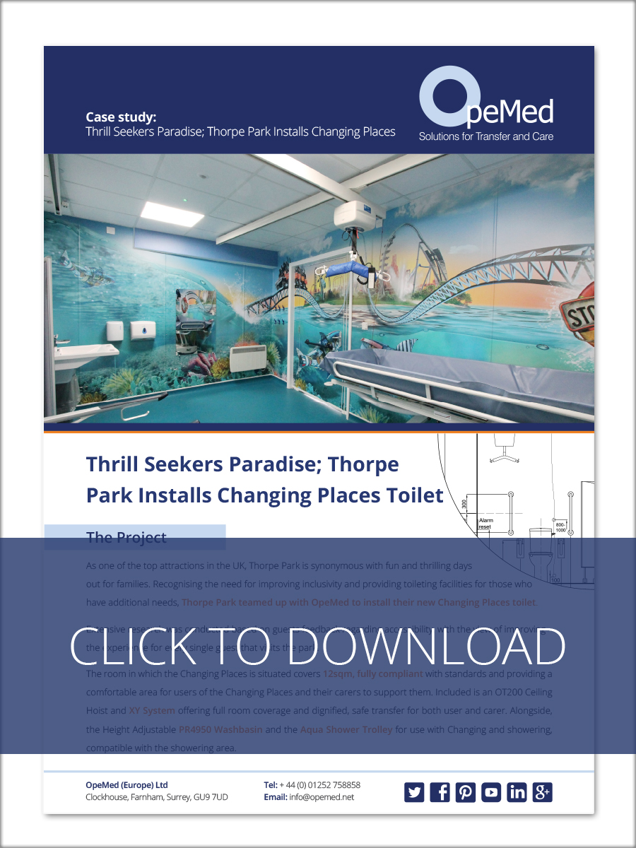 Thrill Seekers Paradise; Thorpe Park Installs Changing Places Toilet