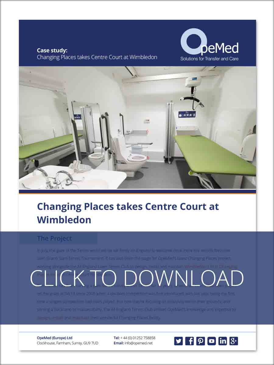 Changing Places takes Centre Court at All England Tennis Club - Wimbledon