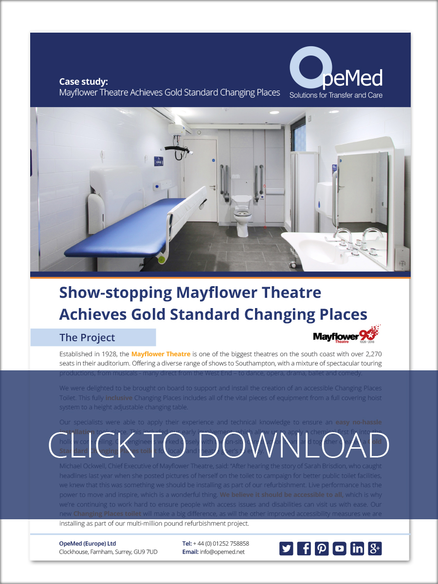 Show-stopping Mayflower Theatre Achieves Gold Standard Changing Places