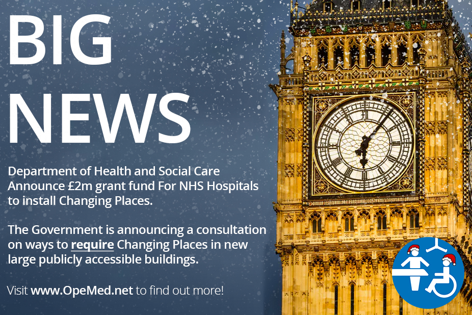 BIG NEWS - Government make Changing Places changes with two big announcements in time for Christmas.